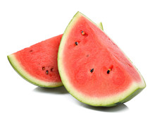 Slice Watermelon Isolated On W...
