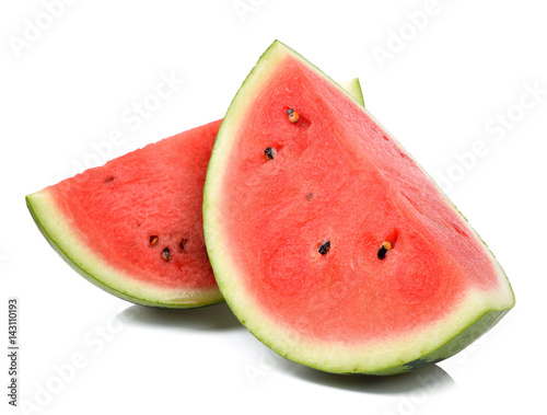 Slice watermelon isolated on white background