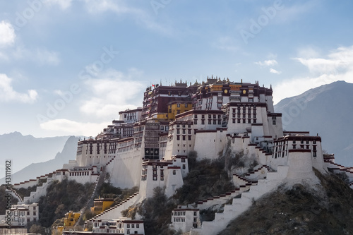 Stampa su Tela the potala palace in the afternoon