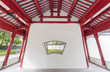 interior of pagoda in Chinese garden