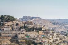 Village Of Siloam In Jerusalem...
