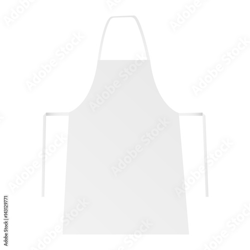 White blank apron isolated Canvas Print