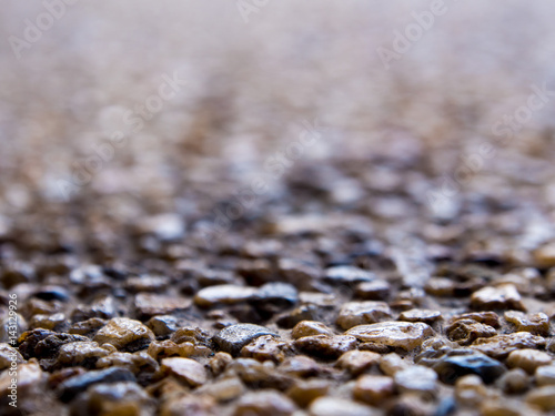 Texture of the exposed aggregate finish flooring Wallpaper Mural