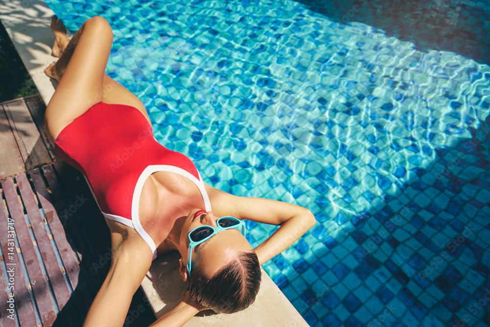 Fotografie, Obraz  Enjoying suntan and vacation