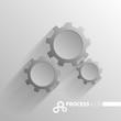 Concept process cogwheel design flat.Process and wheel, cogwheel vector.