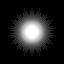 Dots Drawing Of Rays Of The Su...