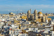 Cathedral of Cadiz from Tavira tower, Andalusia, Spain