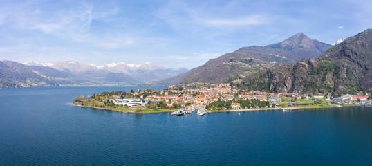Village of Dervio - Como Lake in Italy - Aerial view
