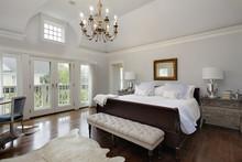 Master Bedroom With Doors To Balcony