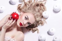 Young Beautiful Blonde Girl Wi...