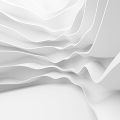 White Architecture Circular Background. Abstract Interior Design
