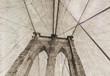 Vintage view of Brooklyn Bridge.