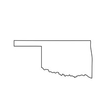 Map Of The U.S. State Of Oklah...