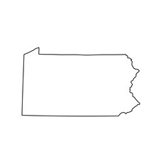 Map Of The U.S. State Of Penns...