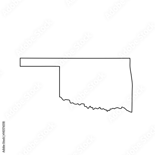 map of the U.S. state of Oklahoma  Wall mural