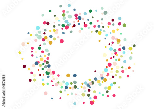 Obraz Abstract colorful confetti background. Isolated on the white. Vector holiday illustration. - fototapety do salonu