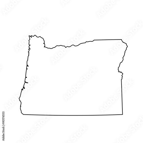 Fototapeta map of the U.S. state of Oregon obraz