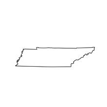 Map Of The U.S. State Of Tenne...