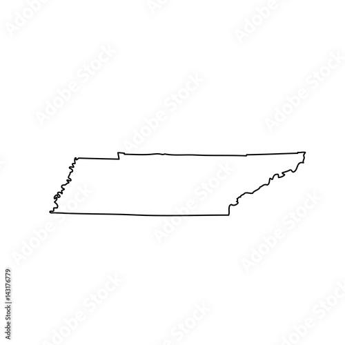 mapa stanu Tennessee w USA
