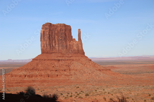 Photo Stands Egypt Monument Valley just before sunset