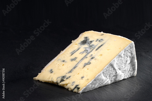 Cross-section of montagnolo affine cheese Canvas Print