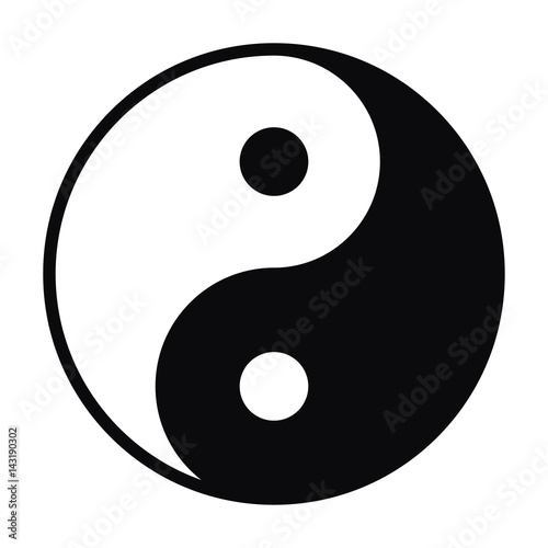 Yin and Yang symbol isolated on white background Fototapet