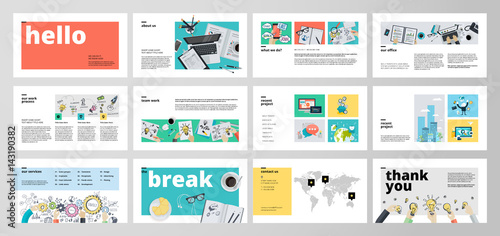 Fotografie, Obraz  Business presentation templates