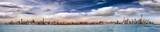 Fototapeta Nowy York - Panoramic view of New York City skyline at dusk