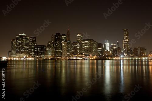 Fototapety, obrazy: Manhattan skyline at Night Lights