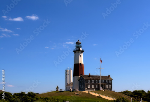 Fényképezés  Lighthouse at Montauk Point. Long Island. NewYork
