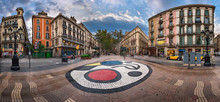 Panorama Of La Rambla Street W...