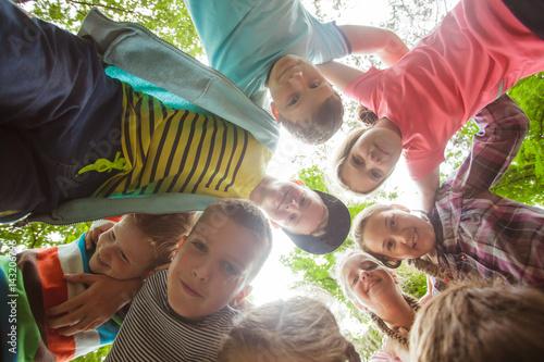 Team of summer camp Fototapeta