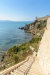 stairs to the sea, Talamone, Grosseto province, tuscany, italy