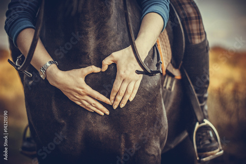 Spoed Foto op Canvas Paarden Love of a horse