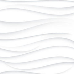 Grey wavy lines on white background.Abstract vector background.EPS10