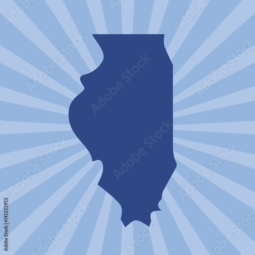 Photographie illinois map. logo vector.