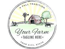 Old Fashion Hand Painted-like Farm Logo.