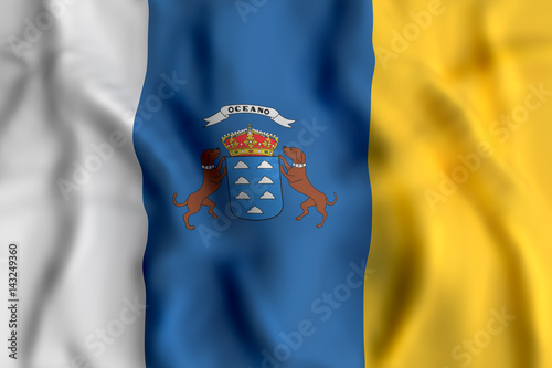 Fotografia  Canarias flag waving