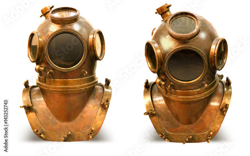 Valokuva  Copper old vintage deeps sea diving suit