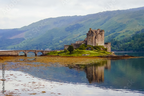 Keuken foto achterwand Noord Europa Eilean Donan Castle in Scotland.