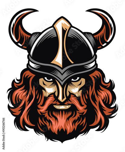 Viking warrior head Wallpaper Mural