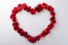 Romantic Heart From Rose Petals