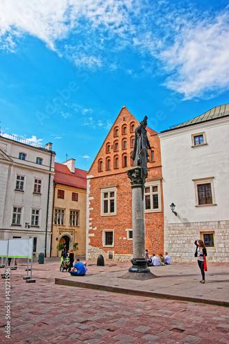 Fototapety, obrazy: Statue of Piotr Skarga on Saint Maria Magdalena Square Krakow