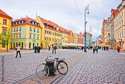 Bicycle at Market Square in Wroclaw, Poland