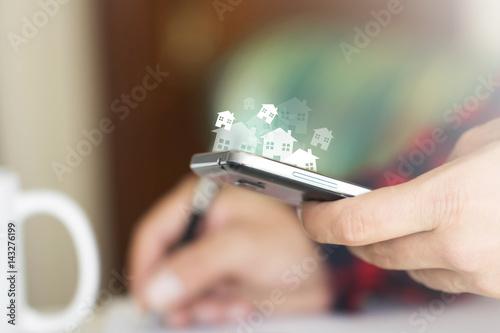 mani, devices, tecnologia, comunicazione, scrivere