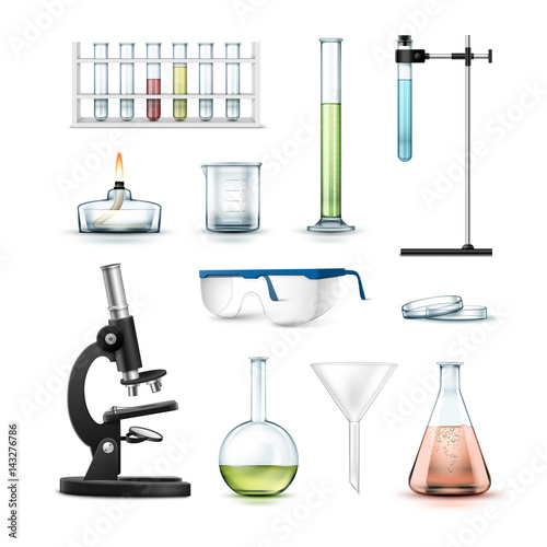 Chemical laboratory equipment - Buy this stock vector and