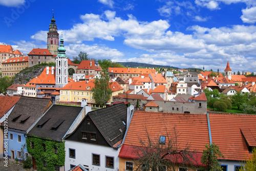 Photo  Roof view of State Castle in Cesky Krumlov Czech Republic