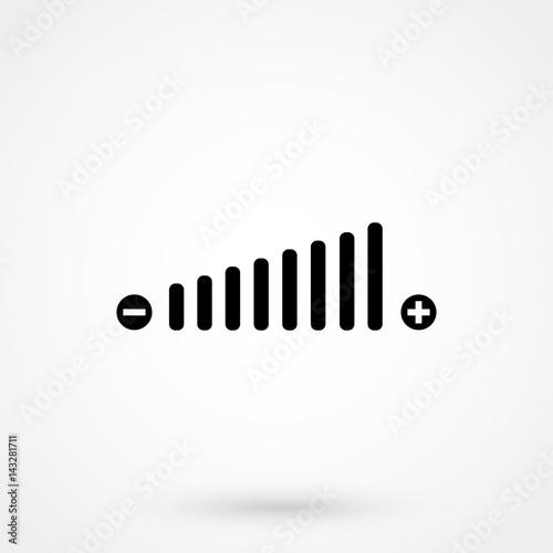Cuadros en Lienzo  Volume adjustment symbol web icon.