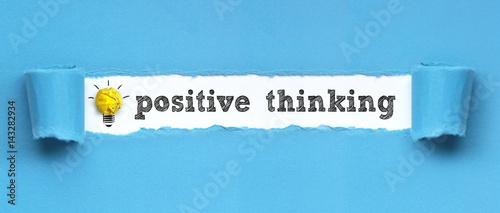 Obraz positive thinking  / papier - fototapety do salonu