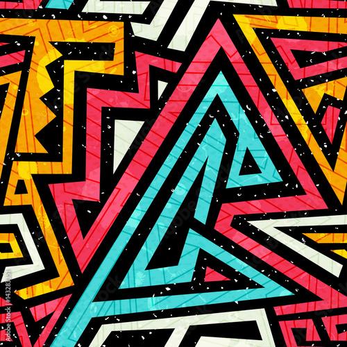 Graffiti wzór z mocą grunge
